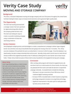 Case Study for the Moving Industry
